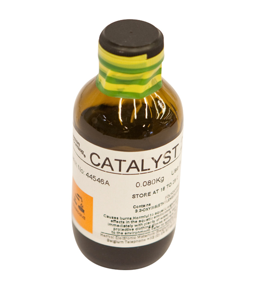 Low-viscosity catalyst for curing Stycast epoxy resins. Mix 4.5 parts catalyst to 100 parts epoxy fo