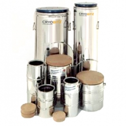 Stainless Steel vacuum insulated dewars for use with Liquid Nitrogen.